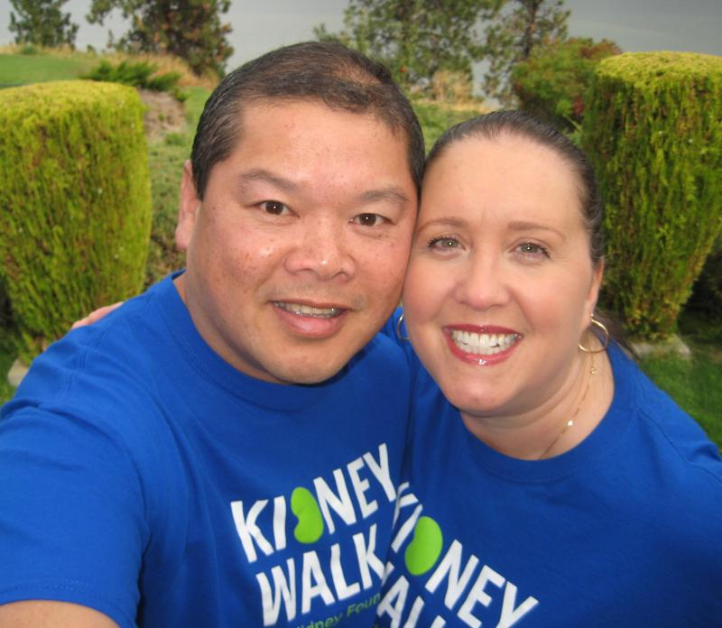 Edmund and Annick at the 2017 Kidney Walk in Penticton, BC.