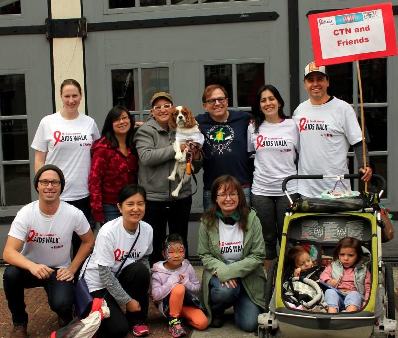 """Pictured here in 2016, the """"CTN and Friends"""" team will once again participate in the Vancouver AIDS Walk this weekend."""