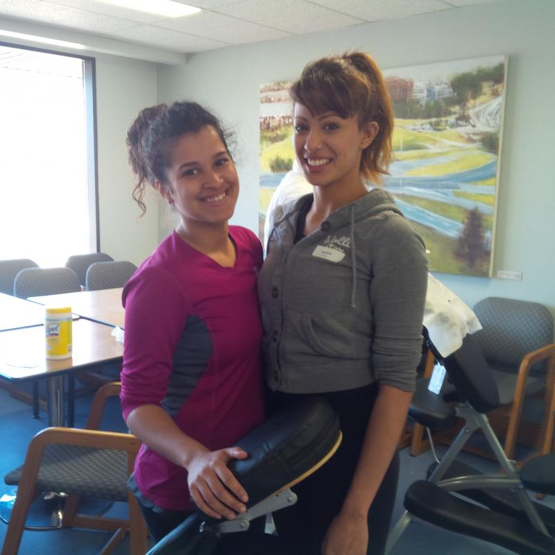 Katina and Chaarvi from Burrard Massage Therapy.