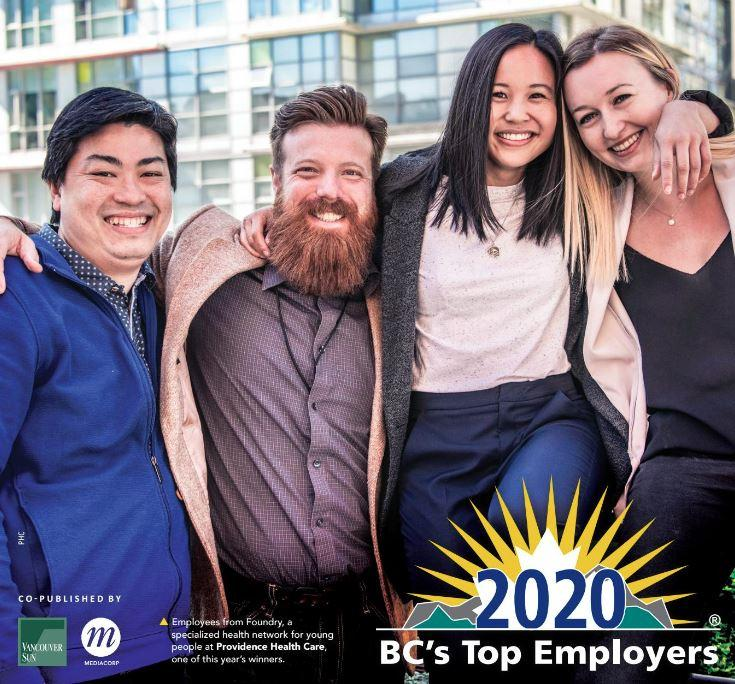 PHC is recognized as one of the top employers in British Columbia!