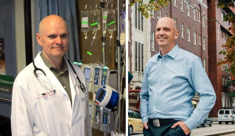 Drs. Keith Walley and Robert Hogg were last year's Research and Mission Award winners.