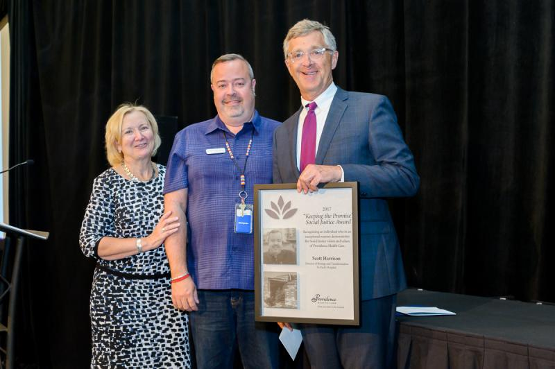Last year's winner of the Keeping the Promise Award – Acute Care was PHC's Director of Urban Health Scott Harrison.