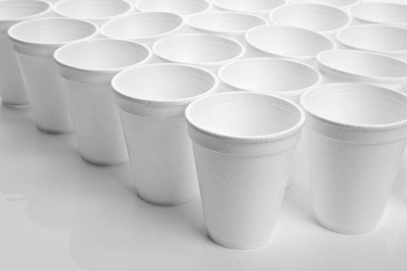 Retail food service providers in PHC sites (coffee shops, cafeterias) will no longer be able to serve food in foam cups.