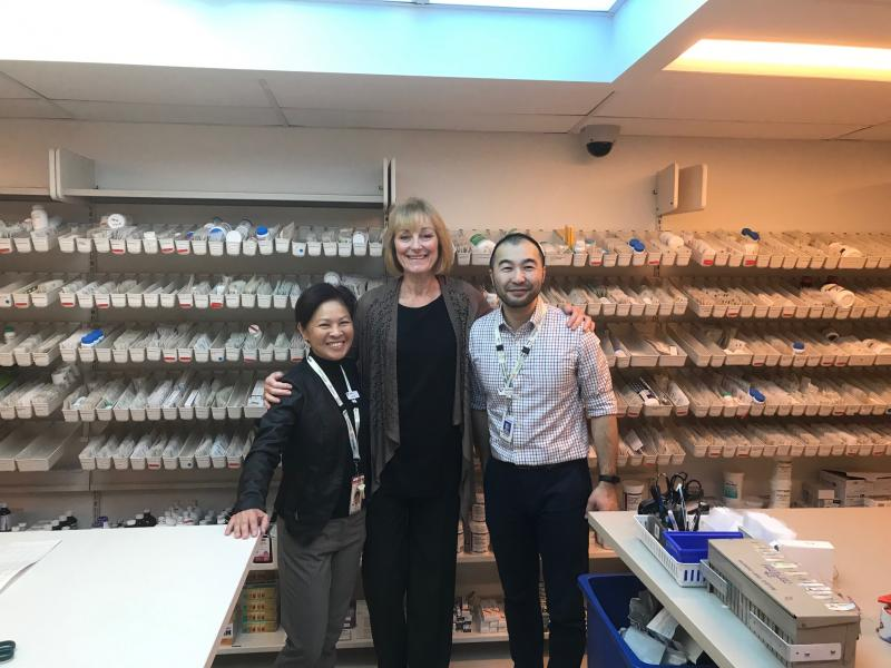 HFH Pharmacy Coordinators past and present: Anita Lo, Pam Kelly, and Anthony Tung