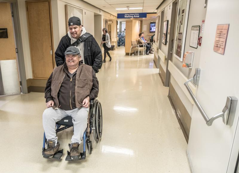 Ken Wilson and his son, Clark at St. Paul's Hospital.