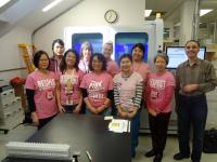 Pink Shirt day photo provided by the Virology Lab at SPH.