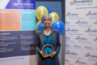 Dr. Anita Palepu accepted the 2020 Research & Mission Award on Dec. 10.