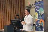 Dr. Charles Lo, Senior Medical Director CST Implementation, PHC, was one of three presenters at Tuesday's All Staff event.