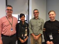 (pictured left to right) RAAC team members Dr. Mark McLean, addictions specialist;  Nancy Chow, Clinical Nurse Leader; Dr. Keith Ahamad, addictions clinician/researcher, and Jaclyn Sauer, social worker.