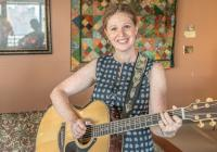Lucy Thomas is a music therapist who works with palliative care patients at St. Paul's Hospital.  Photo credit: Jeff Topham, St. Paul's Foundation