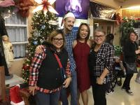 (L - R) Heidi Valeriano , Residential Care Assistant; Brian Hufsmith, CNL; and Sandra Lee, Operations Site Leader; and Cristina Gailian, Unit Coordinator at St. Vincent's: Langara.