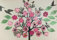 The ever-expanding Community Tree at Brock Fahrni contains meaningful details about staff as well as photos of residents along with three things that bring them peace, comfort and joy.